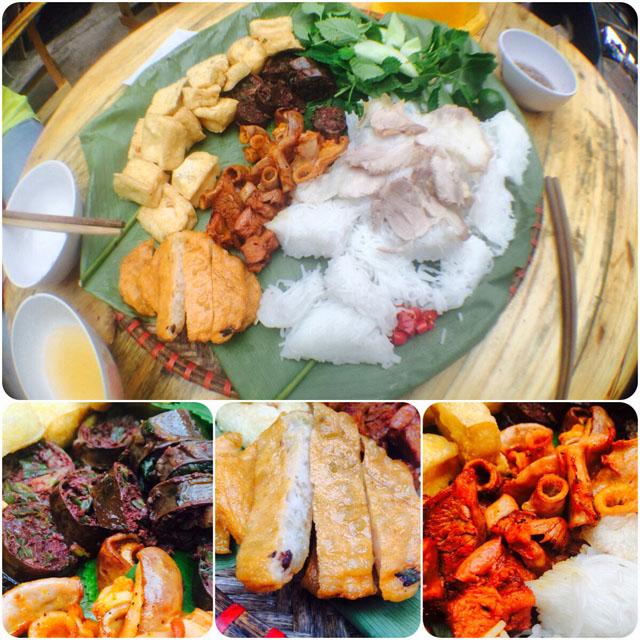 Street food lunch: Bún đậu mắm tôm