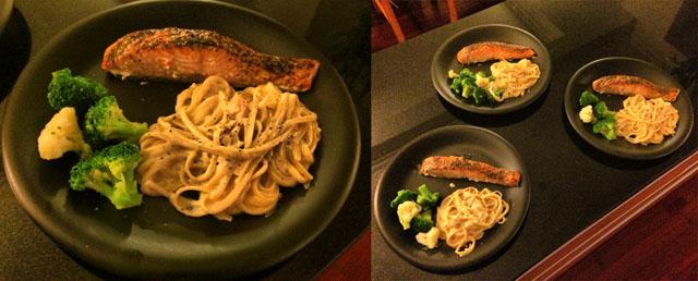 Home dinner: Salmon