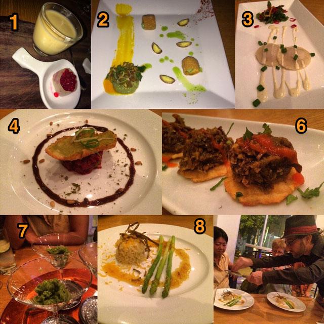 Vegetarian tasting menu at Daluva