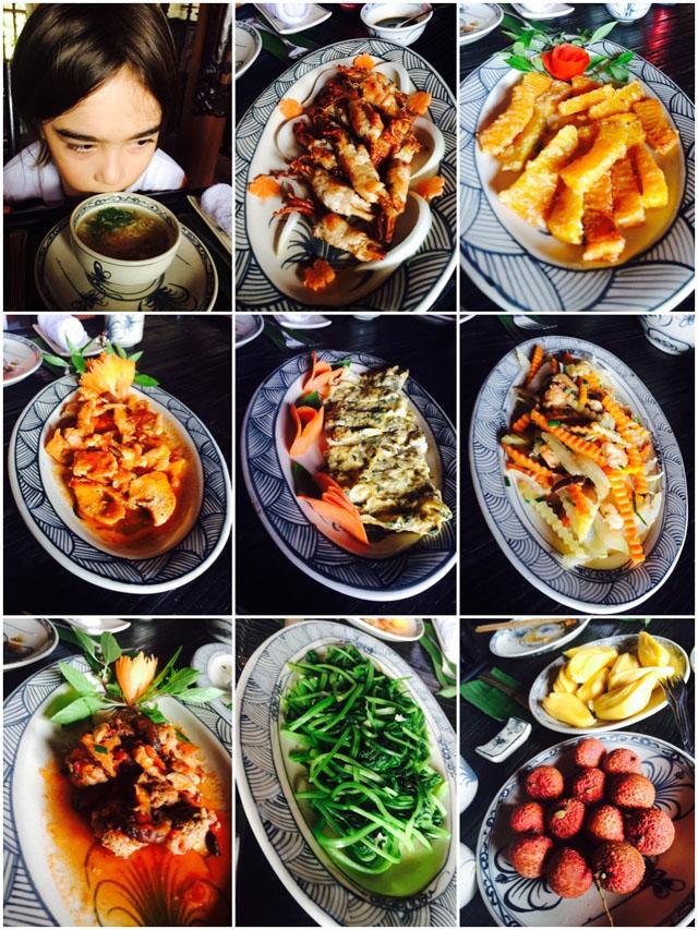 First lunch in Yên Đức