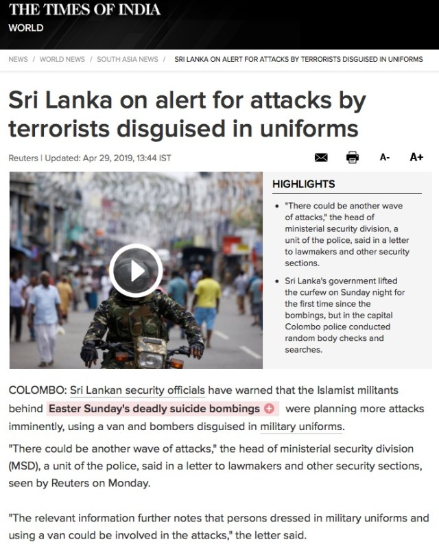 Sri_Lanka_latest_news__Sri_Lanka_on_alert_for_attacks_by_terrorists_disguised_in_uniforms-_Times_of_India